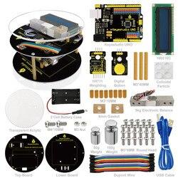 Keyestuido DIY Электронные весы стартовый набор для Arduino обучения программирования на основе UNO R3  64 страницы Книга руководство