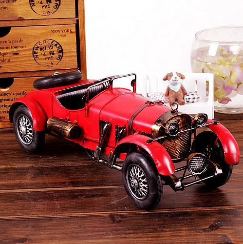 Free Shipping Vintage Style Antique Car Metal Classic Car Metal Car Gift Home Decoration Memory of old times 7233