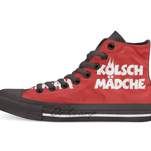 Kölsch Mädche Frauen und Mädchen aus Кельн Повседневное с высоким берцем холщовая обувь кеды для дропшиппинга(прямой поставки