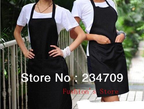 Chefs Catering Bar Plain Apron Waiter Waitress Butcher Bib Kitchen Cooking Craft black work apron,1 pcs/lot