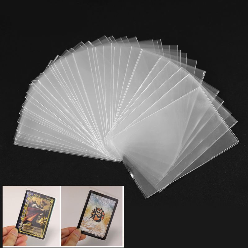 100pcs Plastic Transparent Card Sleeves Magic Board Game Tarot Three Kingdoms Poker Cards Protector image