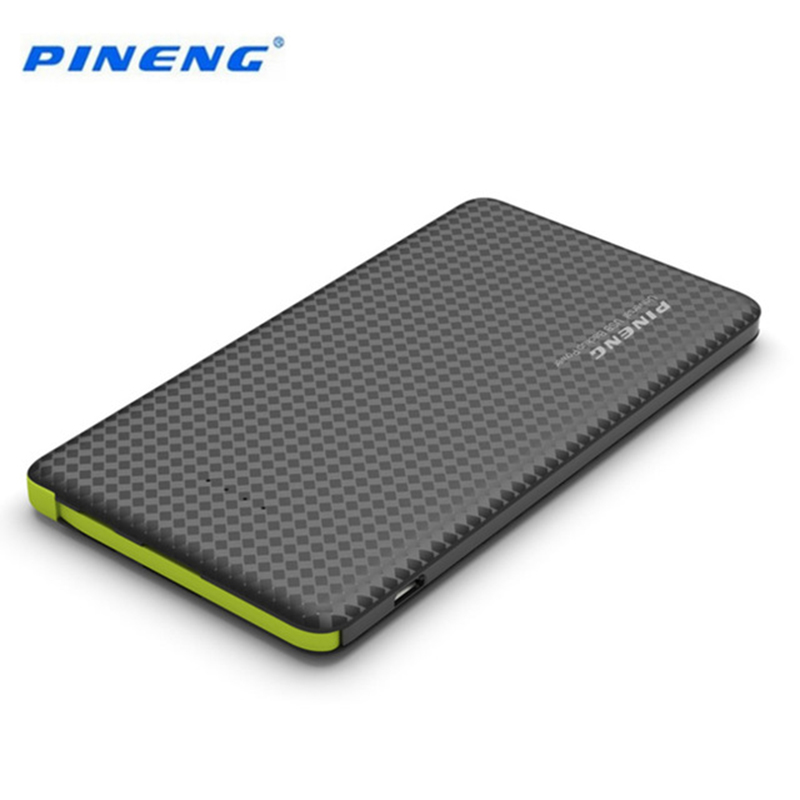 Цена за Оригинал Pineng 5000 мАч Мощность банк Быстрая зарядка внешний Батарея Портативный Зарядное устройство литий-полимерный Батарея для Мобильные телефоны
