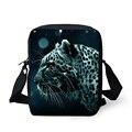 Moda saco do mensageiro dos homens 3d animal leopard head mini crossbody bag crianças sacos de viagem meninos crianças pequena bolsa mochila bolsas