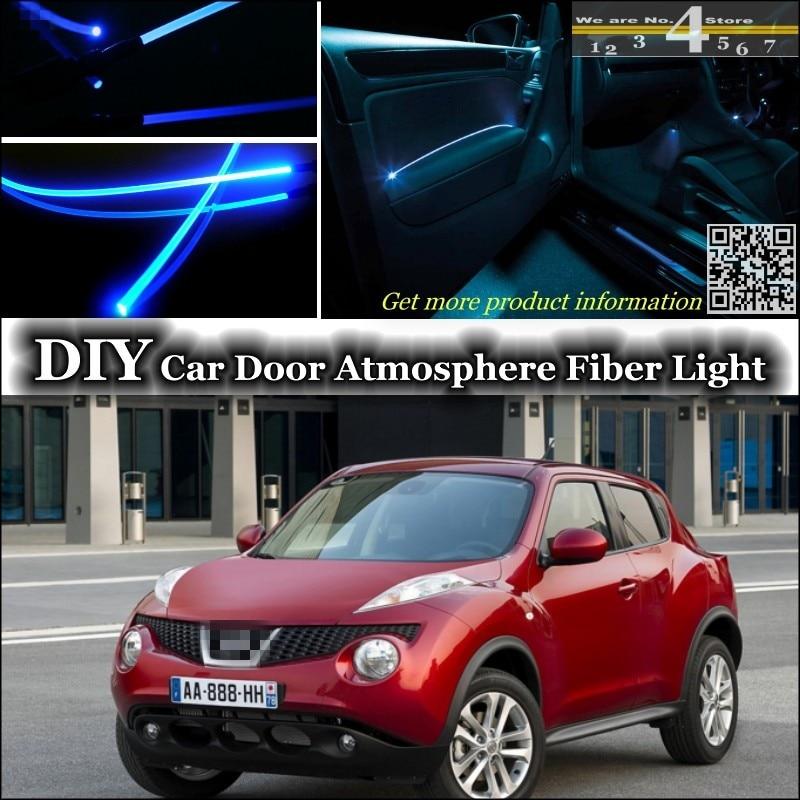 For Nissan Juke For Infiniti ESQ F15 interior Ambient Light Tuning Atmosphere Fiber Optic Band Lights Inside Door Panel Tuning