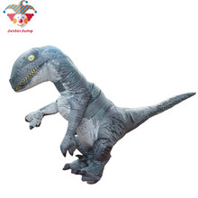 Jurassic World 2 Park Hot Adult Inflatable Velociraptor Costume Cosplay Dinosaur T REX Costume Halloween Costumes For Women Men(China)