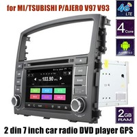2 din 7 inch car dvd player GPS radio audio stereo Bluetooth steering wheel control for MITSUBISHI PAJERO V97 V93