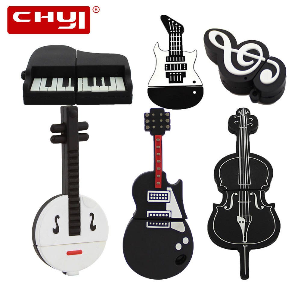 CHYI Musical Instruments Model USB Flash Drive 64GB Violin Piano Guitar Pen Driver 8GB 16GB 32GB 4GB Pendrive Personality U Disk ...