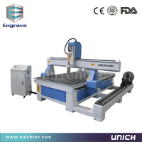 High steady 1200*2400mm stepper motor cnc milling machine china