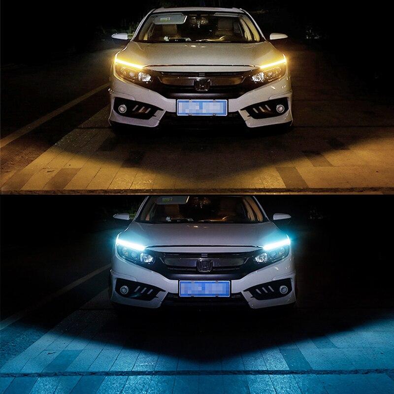 1 Piece 17cm Universal COB DRL LED Daytime Running Lights Car Lamp External Lights Auto Waterproof Car Styling Led DRL Lamp in Signal Lamp from Automobiles Motorcycles