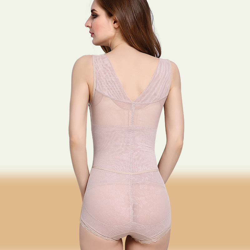 4ace0a45454 Plus Size 3XL Bodysuit Women s Lace Slim Body Shaper Control Panties  Underbust Waist Corsets Shapewear Girdles Cincher Underwear-in Bodysuits  from Women s ...