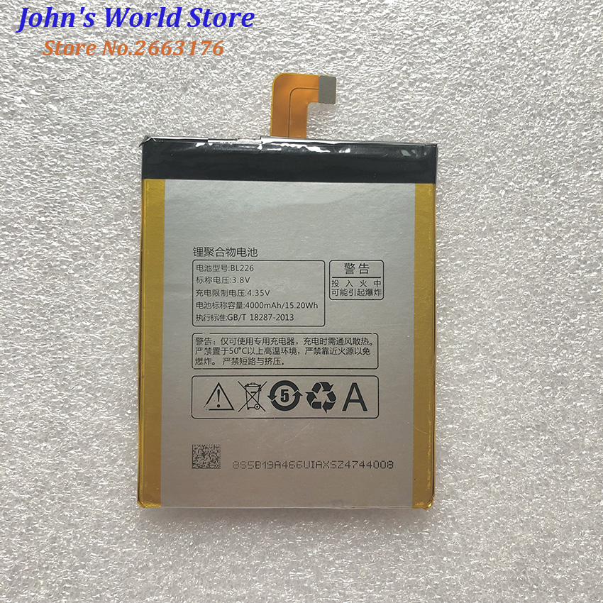 For Lenovo S860 Battery Replacement 100% High Quality 4000Mah BL226 Battery Replacement For Lenovo S860 Mobile Phone+In Stock