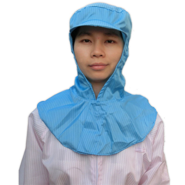 Anti Static Protection Dust Head Cover Painting Electronics Food Factory Hat Cleanroom Workshop Laboratory Protective Shawl Hat