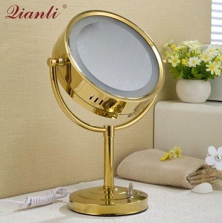 Miroirs de beauté en cuivre | Milliers de miroirs de toilette, vanité de salle de bains, grossissement Double face, mural pliant télescopique m