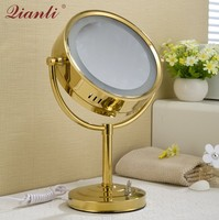 Thousands of copper beauty mirrors Bathroom bathroom vanity mirrors Double sided magnification wall mounted folding telescopic m