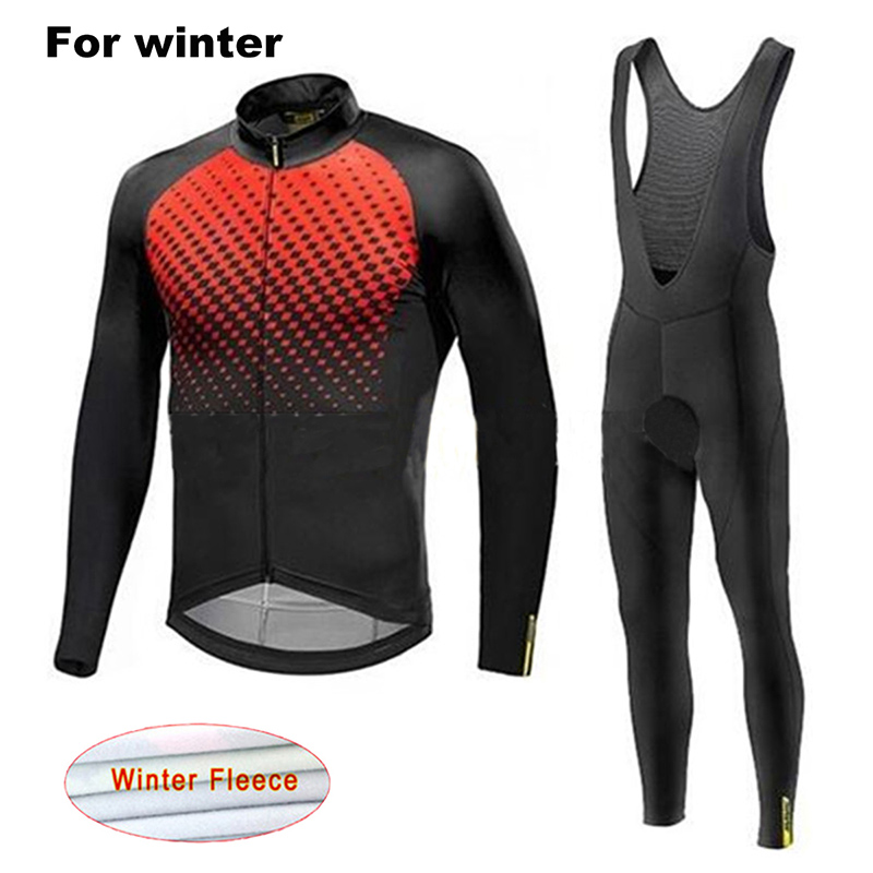 2019 Mavic TEAM Winter Thermal Fleece Cycling JERSEY sets Bike clothes Mens Ropa Ciclismo 9D GEL Pads Bicycling Maillot Culotte2019 Mavic TEAM Winter Thermal Fleece Cycling JERSEY sets Bike clothes Mens Ropa Ciclismo 9D GEL Pads Bicycling Maillot Culotte