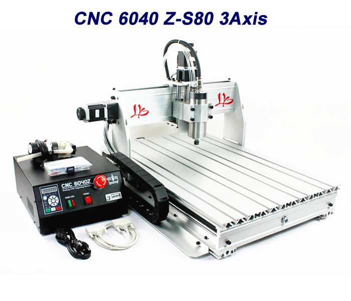 CNC engraving machine CNC 6040Z-S80 3axis CNC router Wood lathe cutting machine with ball screw 3d cnc router cnc 6040 1500w engraving drilling milling machine cnc cutting machine 110 220v
