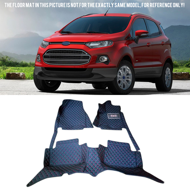 Car Accessories Floor Mats Carpets Foot Pads Protector Cover <font><b>1</b></font> set For Ford EcoSport 2013-2016 image