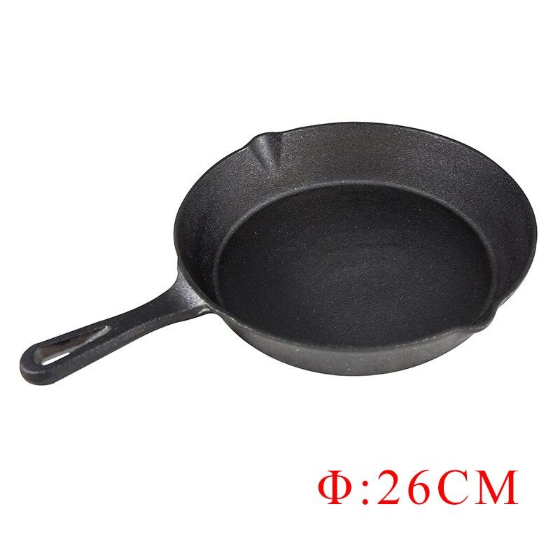 ZITING 26cm Non Stick Frying Pan Cast Iron Skillet Pan Cooking Pots Cookware No Smoke Pancake
