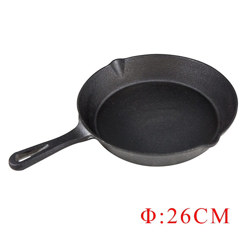 ZITING 26cm Non Stick Frying Pan Cast Iron Skillet Pan Cooking Pots Cookware No Smoke Pancake Pan Use Gas And Induction Cooker Сковорода