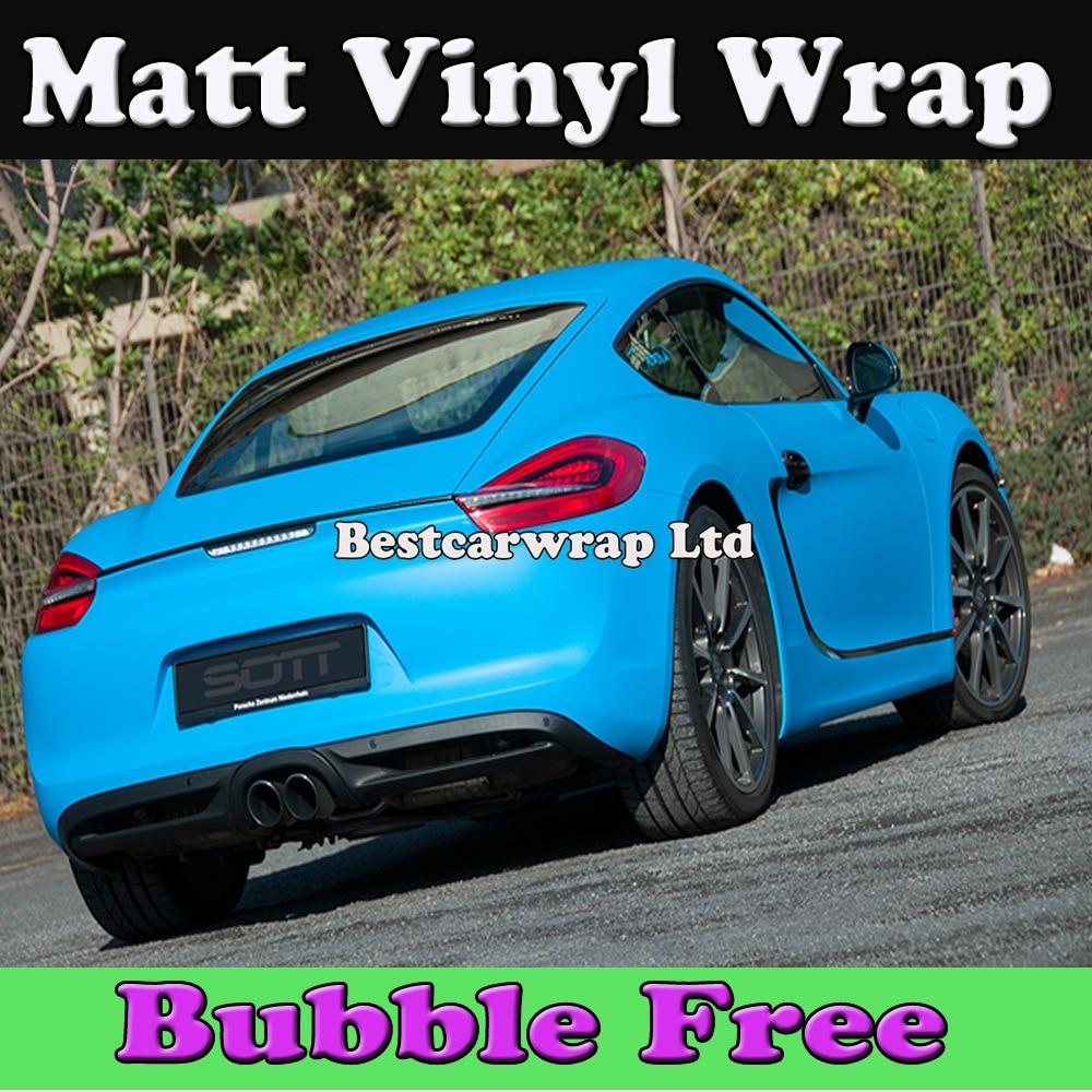 *Matte Sky Blue Frosted Glitter Sparkle Sticker Decal Sheet Car Vinyl Wrap DIY