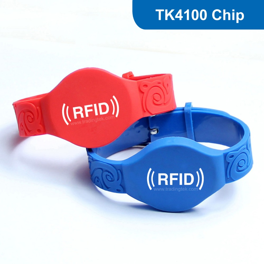 WB06 Silicone RFID wristband, RFID Wristband RFID Bracelet for access control with TK4100 Chip Free Shipping wb01 hot sales silicone rfid wristband for access control nfc bracelet iso14443a 13 56mhz with m1 s50 chip free shipping