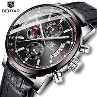 BENYAR 2019 Men's Watch Business Mens Watches Top Brand Luxury Quartz Watches Mens Waterproof Male Wristwatch Relogio Masculino