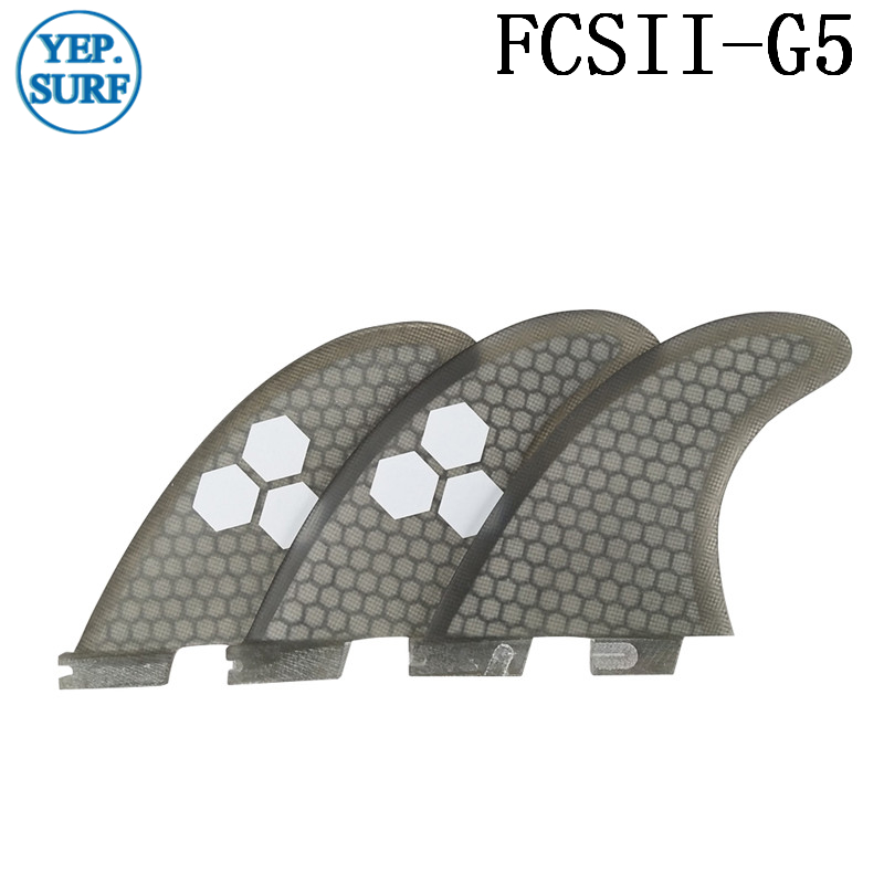 Surf Fins FCS2 G5 Fin Honeycomb Surfboard Gray color surfing fin Quilhas thruster surf accessories