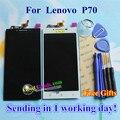 "Alta calidad lcd display + touch screen reemplazo digitalizador para lenovo p70 p70-t p70t teléfono celular 1280*720 5.0 ""negro Blanco"