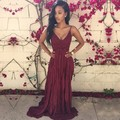 New Fashion Women Ladies Sexy Strap V-Neck Lace Floral High Elastic Waist Backless Chiffon Maxi Party Beach Long Dress