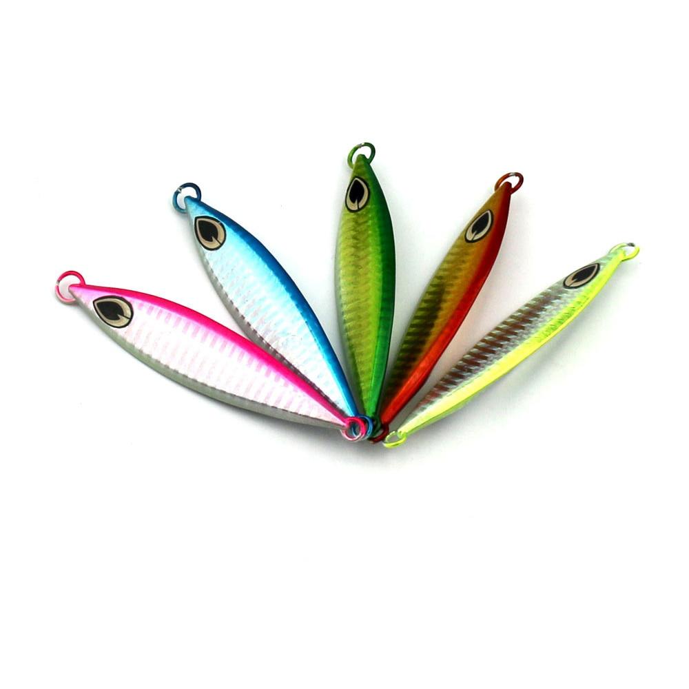 60g 10cm 5pcs lumineux naufrage crayon pêche en mer kit de pêche - Pêche
