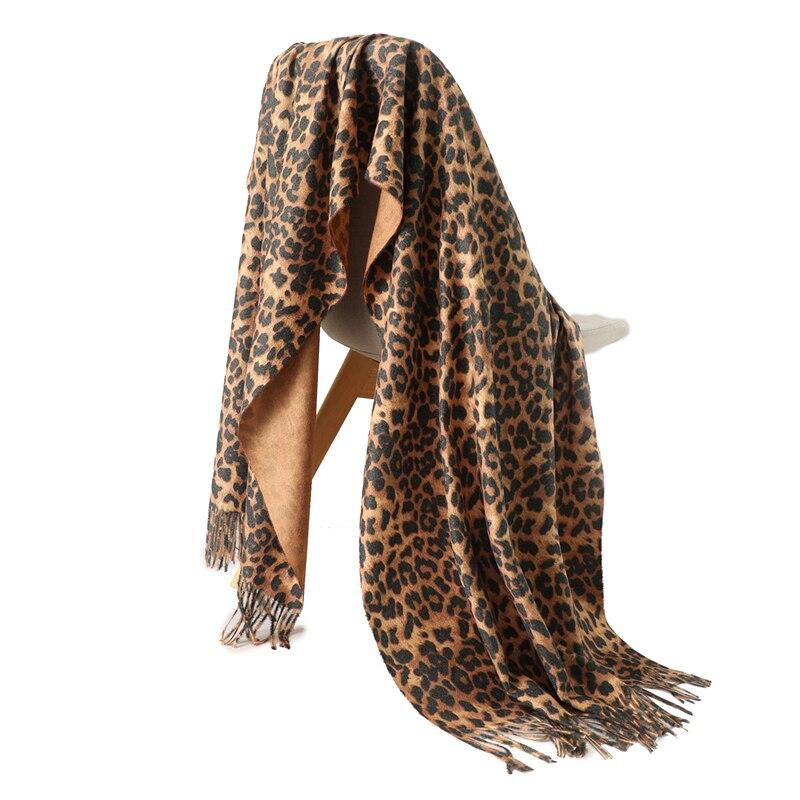 2019 Designer Brand Women Scarf Fashion Leopard Print Cashmere Scarves Lady Winter Shawls And Wraps Pashmina Bandana Blanket