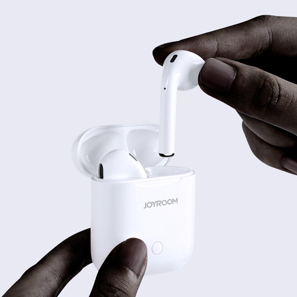 D'origine Joyroom T03 Binaural Bluetooth sans fil Écouteurs Bluetooth 5.0 Portable Sport casque Bluetooth avec le Cas de Charge
