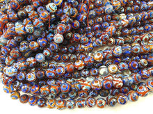 Purpel Red Blue Gemstone 2strands 16″ Tibetan Agate Beads 8-16mm – Round Faceted Beads black white evil agate neckalce green bea