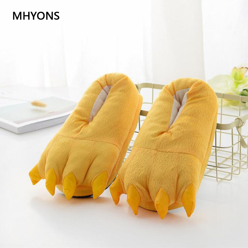 Winter Baby Anti Slip Cotton Lovely Cute Shoes Animal Slipper Boots Boys Girls House Shoes Unisex Skid Cartoon Paw Baby Slippers