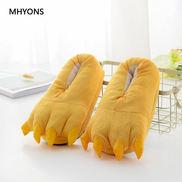 9626470053583 US $4.96 28% OFF|Winter Baby Anti Slip Cotton Lovely Cute Shoes Animal  Slipper Boots Boys Girls House Shoes Unisex Skid Cartoon Paw Baby  Slippers-in ...