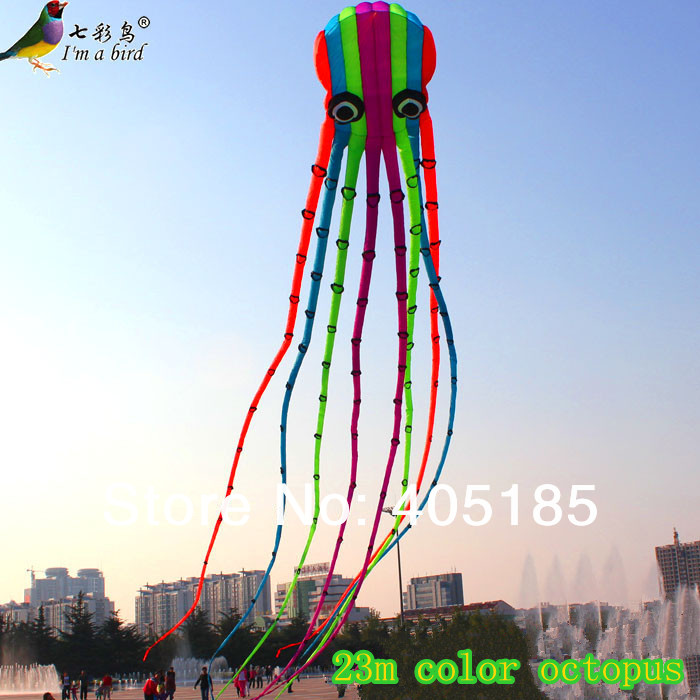 Outdoor Fun Sports High Quality 23m Power Kite Software Octopus Flying