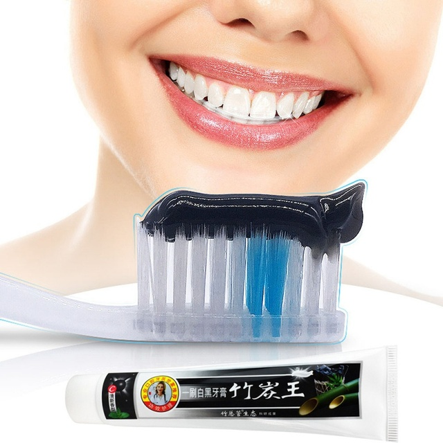 Natural Activated Bamboo Charcoal Salt Toothpaste Herbal Teeth