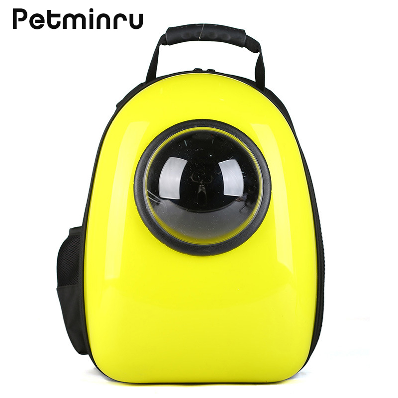 Petminru Breathable Dog Puppy Portable Cartoon Cat Dog Carrier Space Bags Pet Carrier Outdoor Travel Backpack Pet Supplies