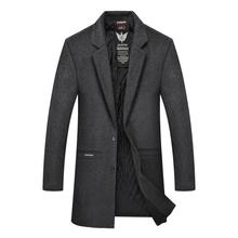 2017 trend in fashion high quality woolen cloth coat plus-size man brought large size single wool coats men jacket free shipping
