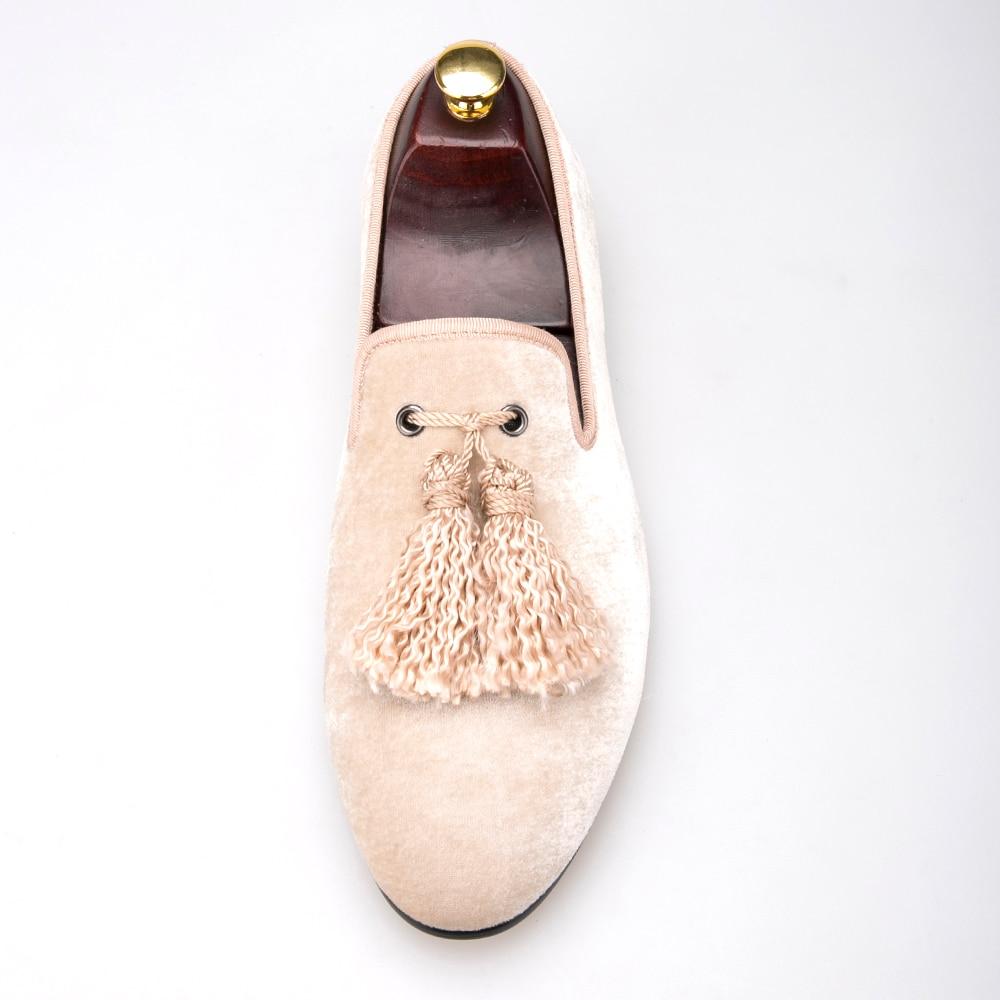 Británica Mano Y Hechos Nobleza Mocasines De La Nueva Picture Boda A The Zapatos Tela Moda Terciopelo Los Del red Borla Shoes Hombres Partido aqIwEZ