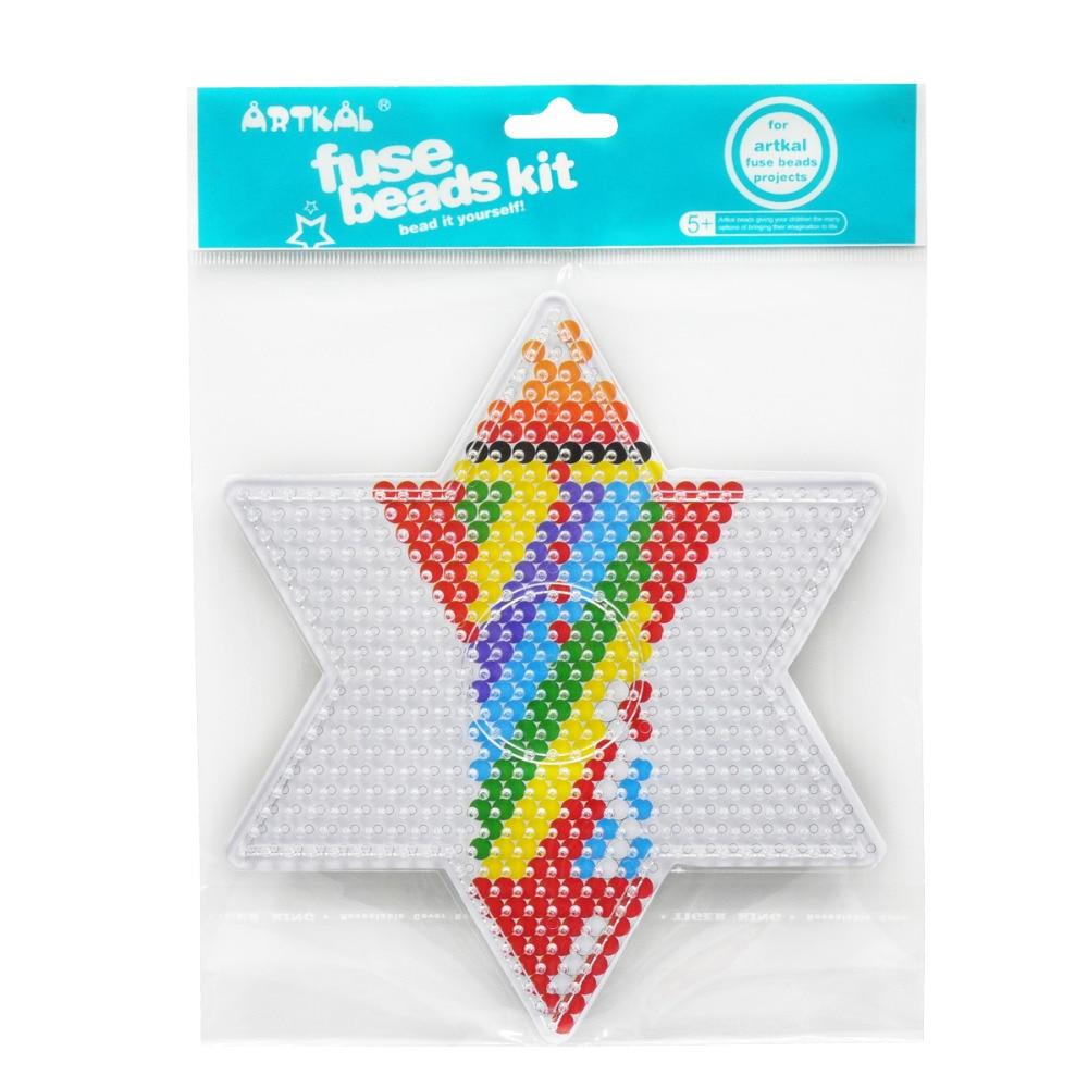 301 Artkal Fusible Perles étoile Panneau Perforé Pour Midi 5mm Pixel Arts Dessin Animé Mignon Drôle Jouets éducatifs Pour Enfant In Puzzles From