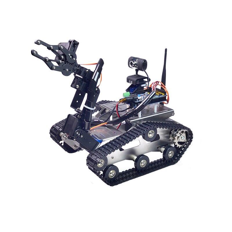 Xiao R DIY Robot Intelligent Wifi Vidéo Contrôle Réservoir avec caméra Cardan pour Enfants Enfants Adulte D'anniversaire De Noël Drôle Cadeau présent