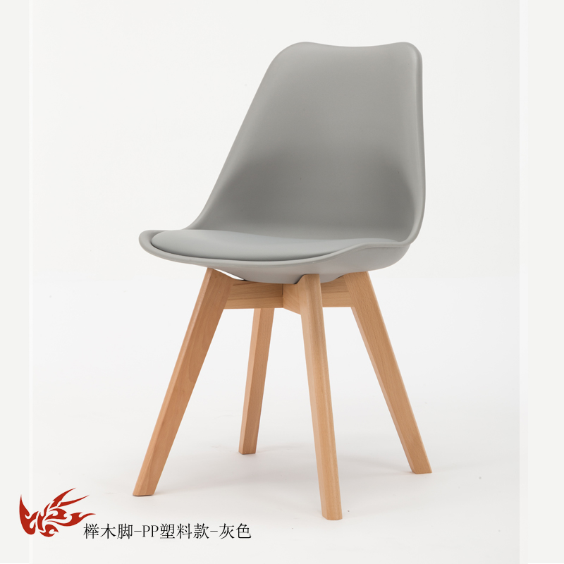 Простой стул Мода нордическая ткань; Массивная древесина обеденный стул кофе отель встречи, чтобы обсудить домашний табурет - Цвет: 8