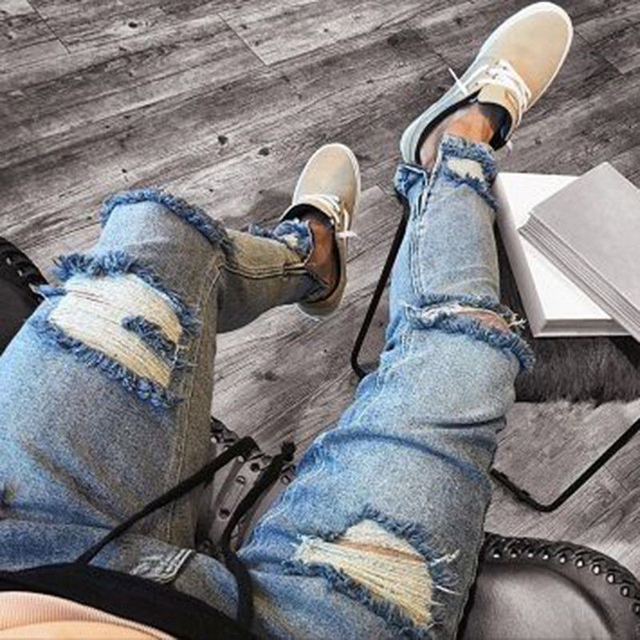 Skinny Ripped Jeans  1