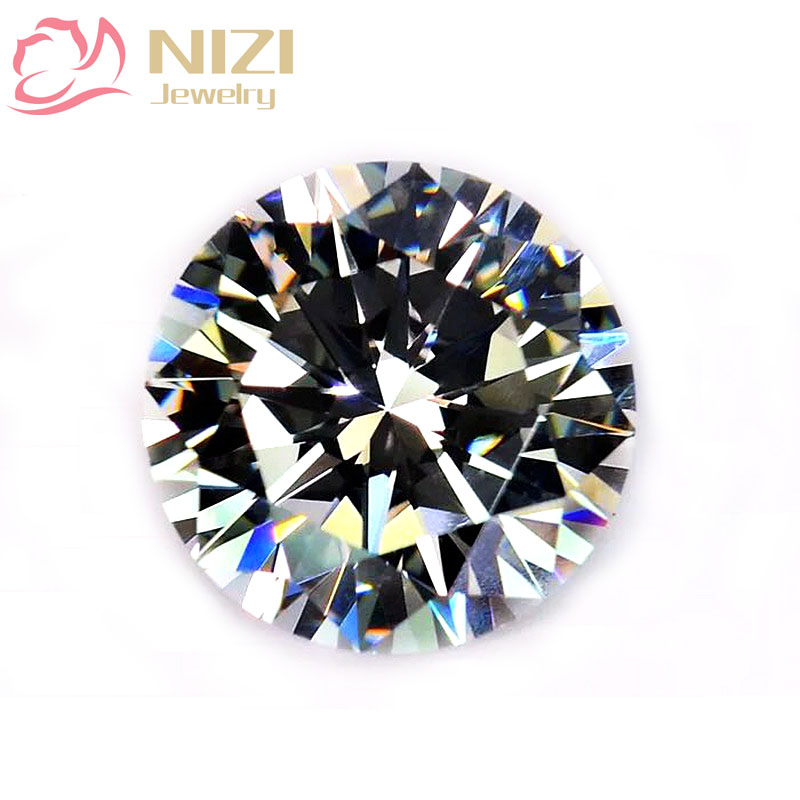 Crystal Clear 4-18mm Round Pointback Rhinestones Brilliant Cubic Zirconia Stones Glue On Crystal Beads DIY Nail Art Decorations 10pcs triangle plastic rhinestones beads crystal nail art sorting trays accessory white nail art tool