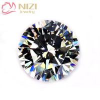 Crystal Color Brilliant Cubic Zirconia Stones Round Shape Pointback Cubic Zirconia Beads Nail Art Decorations 4