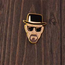 Hot New Movie Breaking Bad Badge Walter White Brooch Cosplay Accessories Cartoon Cute Super Cool Fashion Metal Fans Gift
