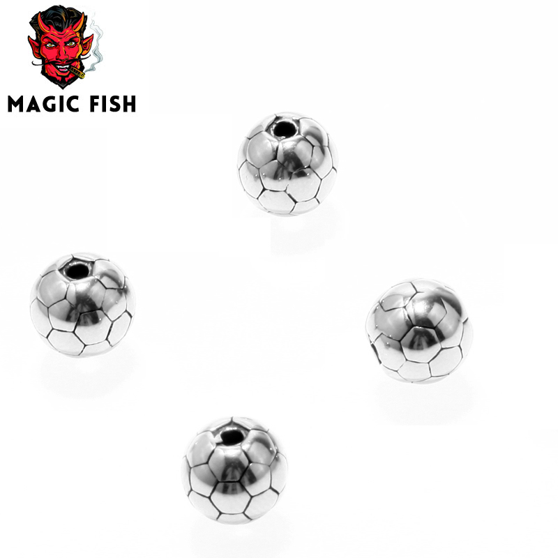 Jewelry & Accessories Motivated Magic Fish Round Shape Beads Charms Bead Faceted Beads Bracelets&bangles 316l Stainless Steel Loose Spacer For Jewelry Making Terrific Value Beads