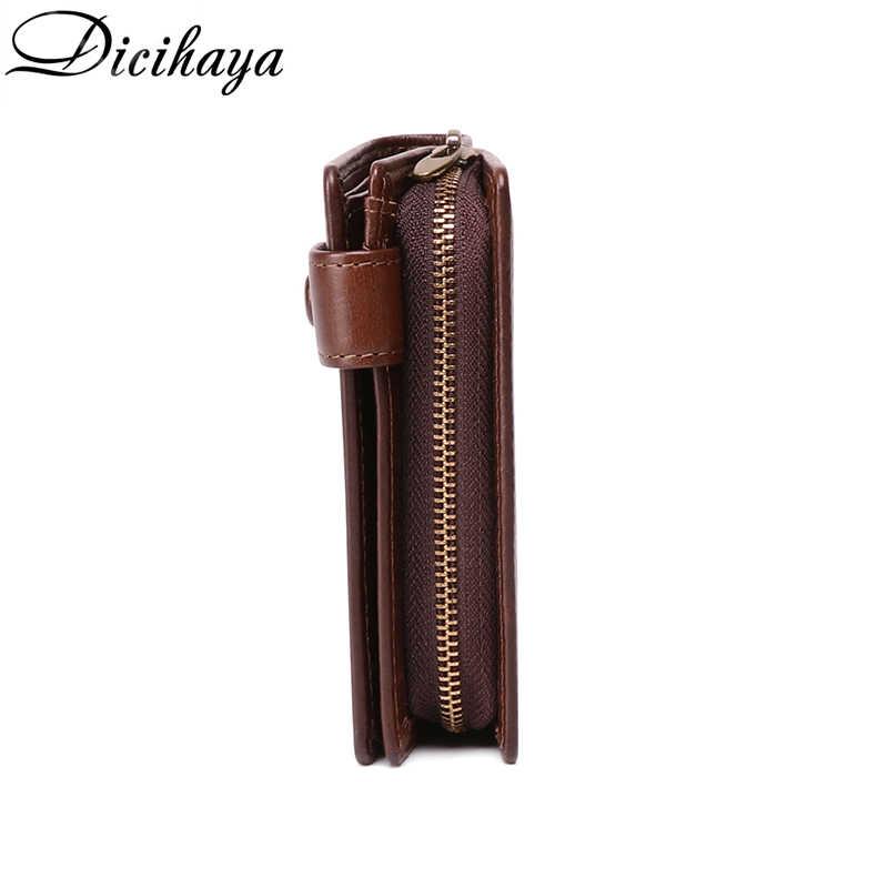 DICIHAYA мужской небольшой бумажник на молнии из натуральной кожи, карманные мужские кошельки Portomonee, мужской короткий брендовый Кошелек для монет Perse Carteira Rfid