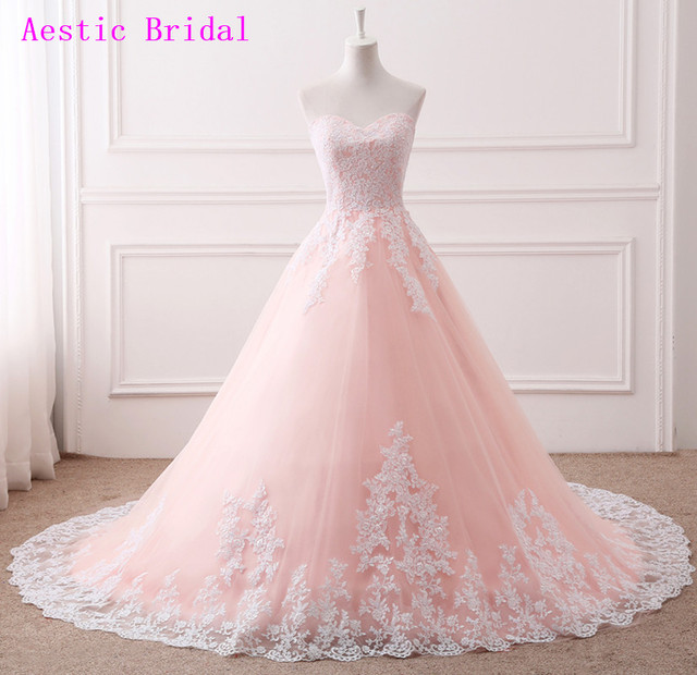 Pink Puffy Ball Gown Long Quinceanera Dresses Cheap